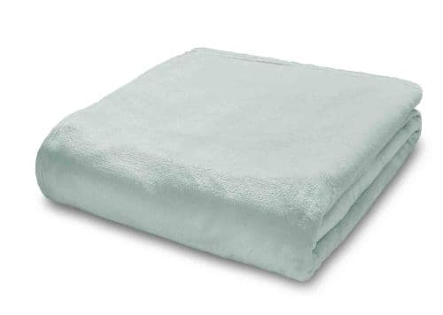 Plain Raschel Throw mint
